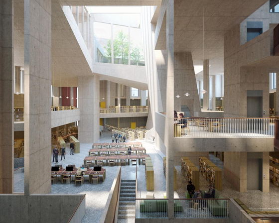 Parnell Square Cultural Quarter, City Library, rendering courtesy of Grafton Architects. [사진 하얏트재단]