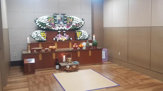 국내 14번째 신종 코로나바이러스 감염증(코로나19) 사망자 이모(70)씨의 빈소.연합뉴스