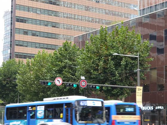 내년 4월부터 전국 도시지역의 차량제한속도가 시속 50㎞로 낮춰진다. 앞서 서울시는 2018년부터 종로구간에서 5030시범사업을 진행하고 있다. [중앙포토]