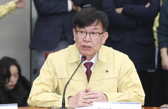 김상조 청와대 정책실장. 임현동 기자