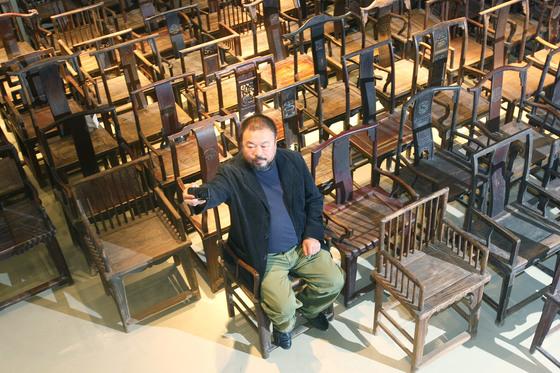 중국 설치미술가 아이웨이웨이. 중앙포토