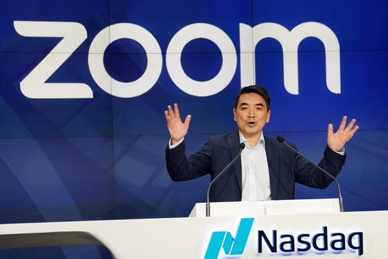 2019년 나스닥에 상장한 줌 비디오 커뮤니케이션스(ZOOM). 사진은 중국 이민자 출신인 줌 창업자 에릭 위안. [로이터=연합뉴스]