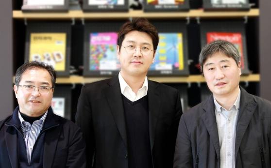 '전고체전지' 기술을 개발한 유이치 아이하라, 이용건, 임동민 마스터(왼쪽부터). 사진 삼성전자