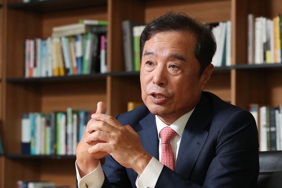 김병준 전 자유한국당 비대위원장. 우상조 기자