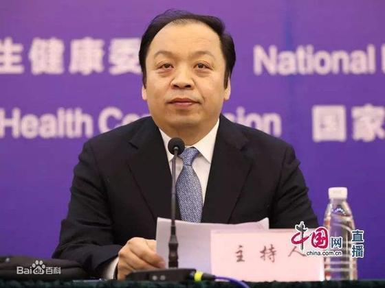 중국 정부가 중국 내에서의 코로나 감염증의 정점이 지나갔다고 12일 공식 선언했다. 사진은 중국 국가 위생위의 미펑 대변인 [출처: 중국망]