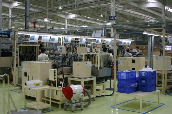 만도 중국 베이징 공장. 중앙포토