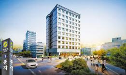 서울 4대문 안에 분양하는 신일 해피트리앤 종로 투시도. 주변에 초대형 개발호재가 있다.