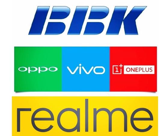 중국 오포와 비보, 원플러스, 리얼미 4개 스마트폰 브랜드는 BBK 일렉트로닉스 계열 회사다.