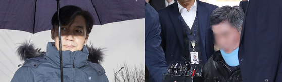 조국 전 법무부 장관(왼쪽)과 조 전 동생 조모씨의 모습. [연합뉴스]