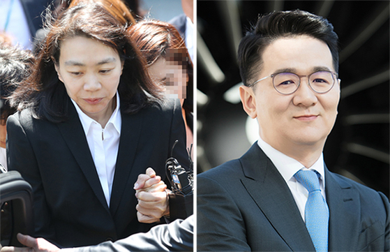 조현아(왼쪽) 전 대한항공 부사장, 조원태 한진그룹 회장. 연합뉴스