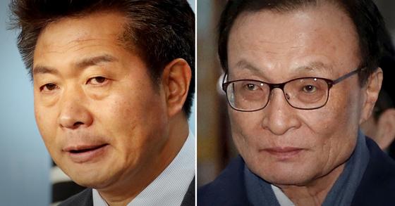 여영국 정의당 원내대변인(왼쪽)과 이해찬 더불어민주당 대표. 연합뉴스·뉴스1