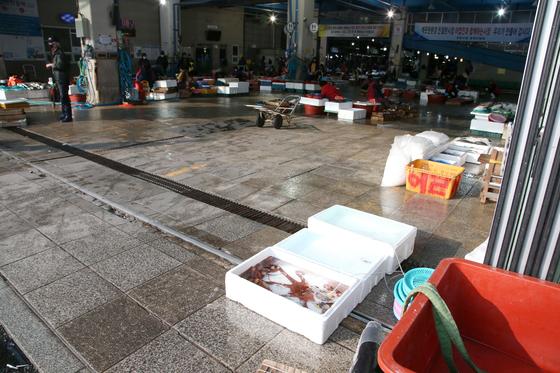 신종 코로나바이러스 감염증(코로나19)이 확산하는 가운데 지난 4일 경북 포항 죽도시장이 찾는 손님이 적어 한산한 모습을 보이고 있다. 연합뉴스.