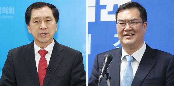 김기현(左), 문석균(右). [연합뉴스]