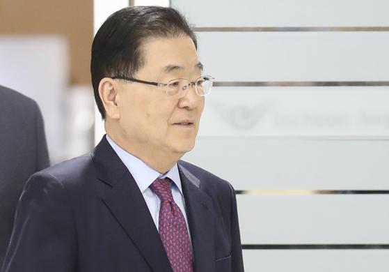 정의용 청와대 국가안보실장. 연합뉴스