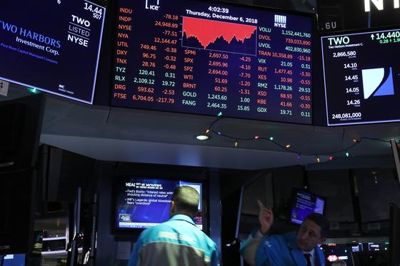 뉴욕증권거래소(NYSE)의 모습. [AFP=연합뉴스]