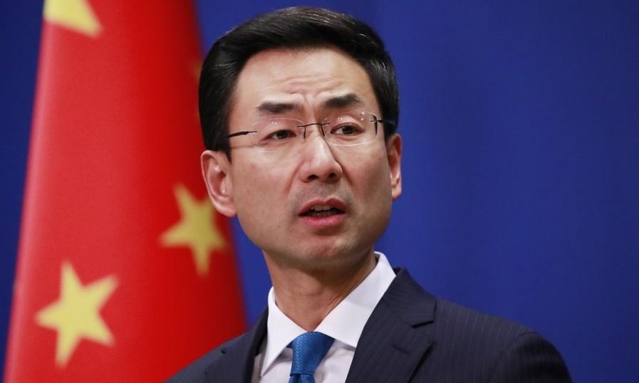 겅솽 중국 외교부 대변인. 연합뉴스