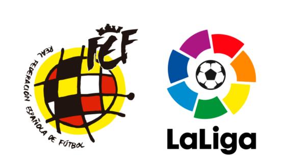 스페인축구협회(RFEF)와 프리메라리가 사무국은 23일(현지시간) 코로나19 확산 우려에 따라 모든 프로리그를 무기한 중단한다고 밝혔다. 사진 RFEF 홈페이지 캡처