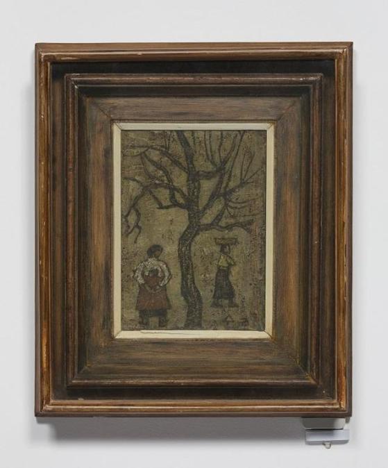 1950대 박수근이 그린 '나무와 두 여인'. [사진 양구군청]
