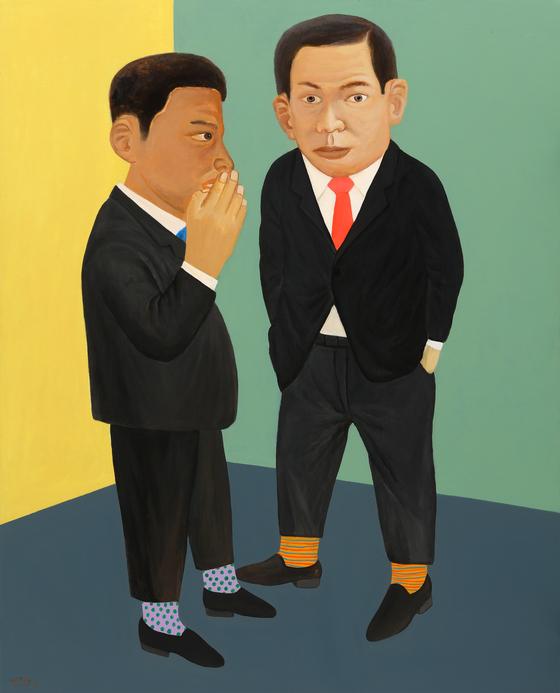 최석운, '두 남자', (162.2x130cm, Acrylic on canvas, 2018-29).[사진 갤러리나우]