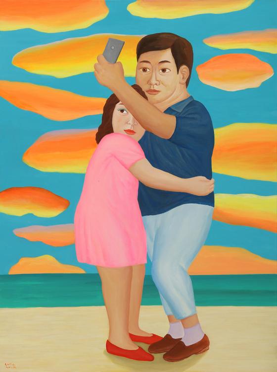 최석운. '화려한 풍경' (130x97cm, Acrylic on canvas, 2019). [사진 갤러리나우]