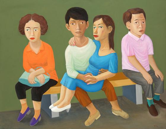 최석운, 'Subway'. (153x195cm, Acrylic on canvas, 2018). [사진 갤러리나우]