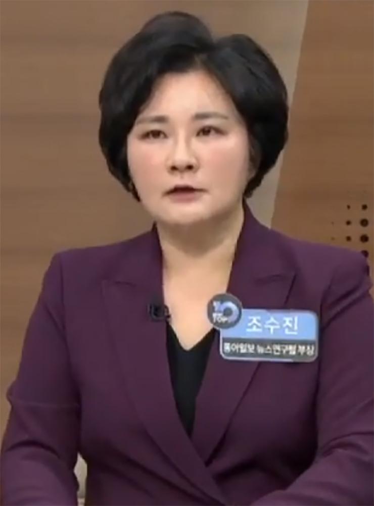 조수진 전 동아일보 논설위원. 채널A 캡처