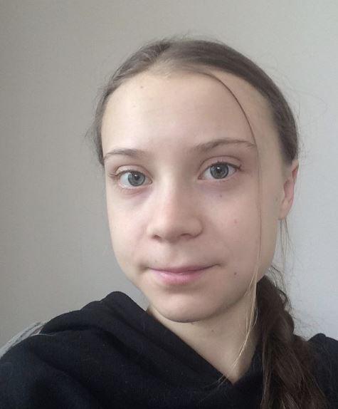 스웨덴의 청소년 환경운동가 그레타 툰베리. 인스타그램 캡처