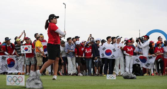 2016년 리우올림픽 여자골프 금메달리스트 박인비는 도쿄올림픽에서 2연속 메달을 노린다. 출전권을 따기 위해 올 시즌 열린 LPGA투어 4개 대회에 모두 출전하기도 했다. [올림픽사진공동취재단]