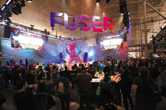 엔씨소프트가 다변화된 플랫폼과 장르로 글로벌 시장 공략에 박차를 가하고 있다. 사진은 지난달 열린 팍스 이스트 2020 내 '퓨저(FUSER)' 부스. [사진 엔씨소프트]