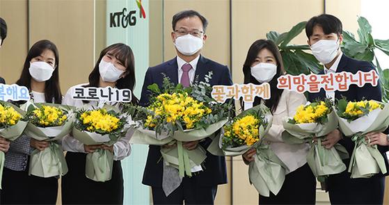 KT&G, 화훼농가 돕기 캠페인