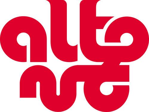 치우천왕을 모티브로 한 알통의 로고. 한글과 로마자(altong)로 동시에 읽힌다. [사진 알통]