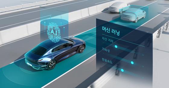 현대차가 개발 중인 인공지능(AI) 기반 자율주행 이미지. 사진 현대차