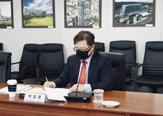 [한국동서발전 이사회에 참석한 박일준 한국동서발전 사장]