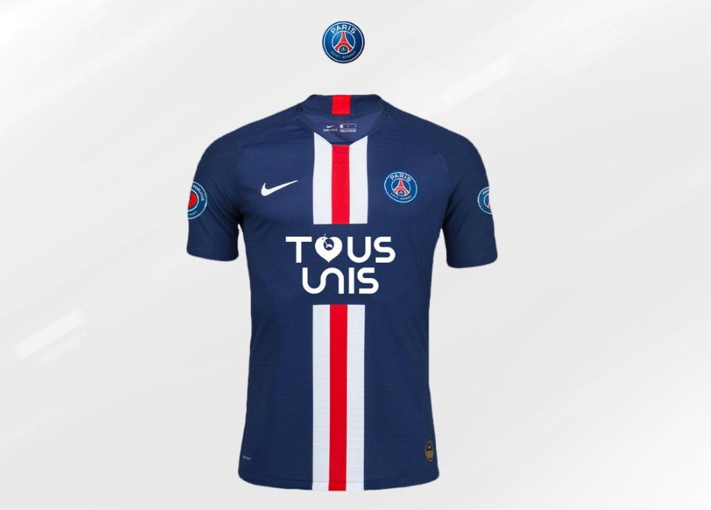 프랑스 프로축구 파리생제르맹이 코로나19 극복을 위해 한정 유니폼을 출시했다. 전면에 새겨진 글씨는 모두 함께란 뜻이다. [사진 PSG 트위터]