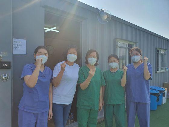 근로복지공단 대구병원에서 근무하는 의료진들. [사진 김미래 간호사]