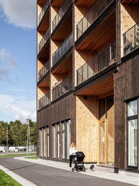 공학목재 발달로 목구조 고층건물 짓기에 도전하는 건축가가 늘고 있다. [사진 photo by Nikolaj Jakobsen]