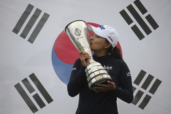 지난해 에비앙 챔피언십에서 고진영이 우승을 차지했다. [AP=연합뉴스]