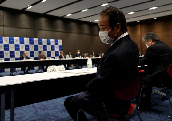 30일 열린 도쿄올림픽조직위원회 이사회 모습. [AFP=연합뉴스]