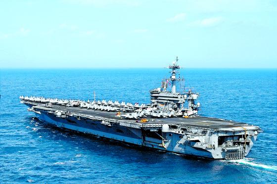 미국 핵항공모함 루즈벨트호. 중앙포토