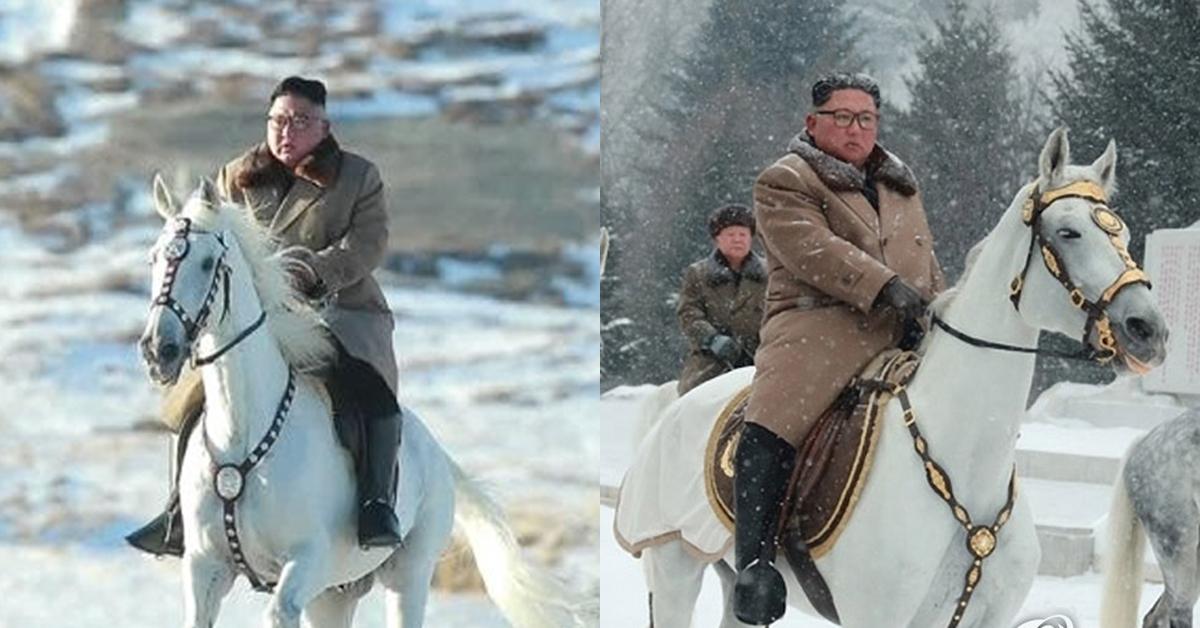 김정은 백두산 오를때 탄 백마, 푸틴이 김정일에 보낸 선물