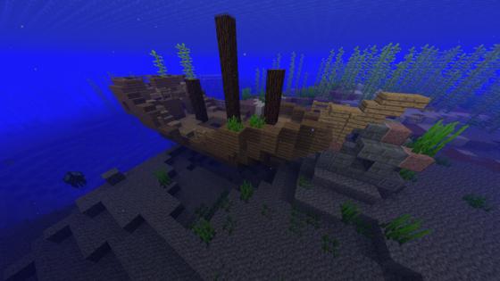 주로 바다에 생성되는 난파선을 탐험하면 보물이 담긴 상자를 발견할 수 있다. 보급품이나 지도가 들어있기도 한다.