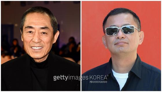 중국이 코로나19 안정화를 선언하며 영화 촬영도 재개했다. (좌)장예모·왕가위 감독