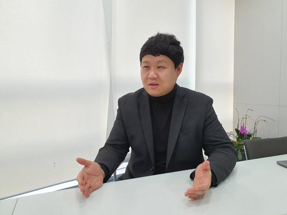 """최바다 티제이파트너스 대표는 """"느리더라도 사회적 갈등을 최소화하는 방향으로 모빌리티 혁신을 이어나가겠다""""고 말했다. 박민제 기자"""