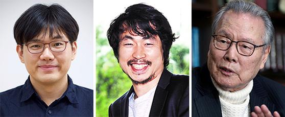 장혜식, 고선웅, 이어령(왼쪽부터)