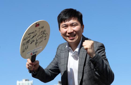 부산 세계탁구선수권대회가 오는 9월 개최된다. 유승민 세계탁구선수권대회 조직위원장. 강정현 기자