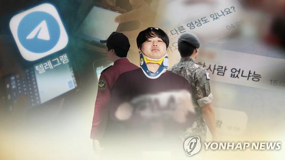 조주빈과 공범들 [연합뉴스TV제공]