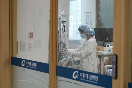 인천 가천대 길병원 심장이식 환자 격리실. 가천대 길병원