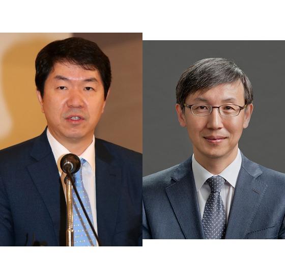 김윤상 변호사(왼쪽)과 한동수 대검 감찰부장.