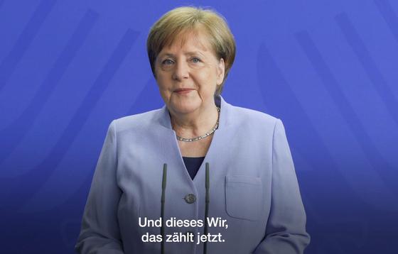 코로나 19 대응이 국민들의 지지를 받으며 앙겔라 메르켈 독일 총리의 지지율이 지난 2일 기준 64%까지 치솟았다. [AFP=연합뉴스]