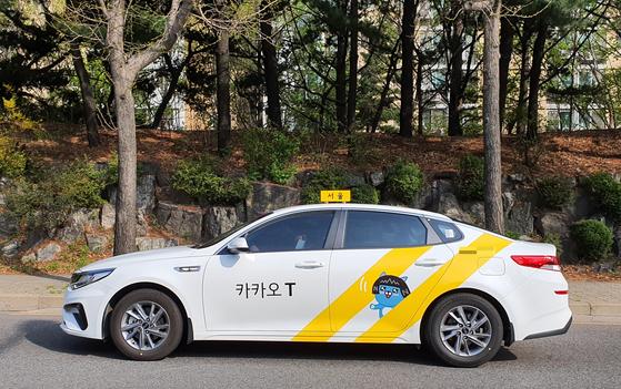 지난 4일 서울 시내를 주행 중인 카카오T블루 택시. 박민제 기자